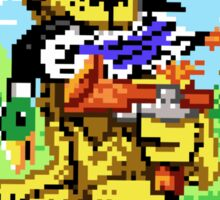 8-BIT DOG HUNTS DUCK Sticker