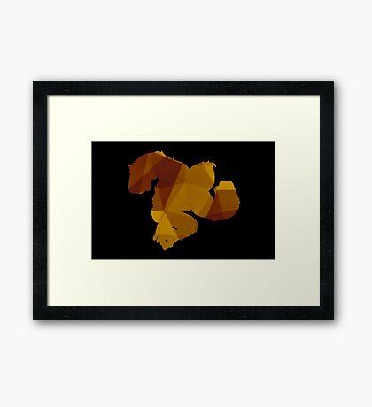 Donkey Kong - Fractal Framed Print