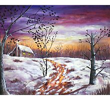Winter House Photographic Print