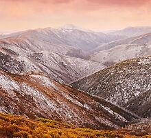 Mt Feathertop Sunset, Victoria, Australia by Michael Boniwell