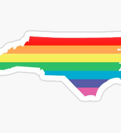 rainbow north carolina Sticker