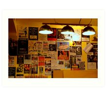 Friday Night at The Hampden Art Print