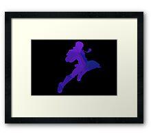 Captain Falcon - Fractal Knee of Justice Framed Print