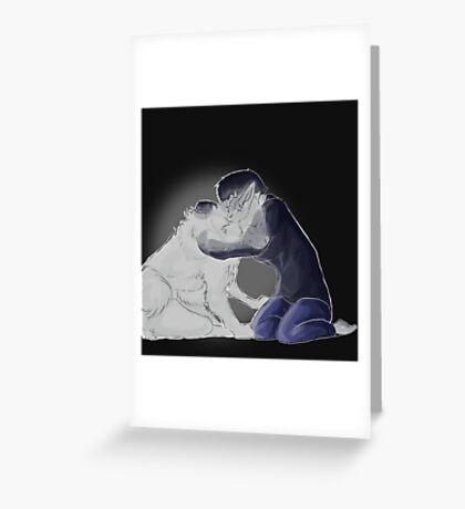 Ghost Dog Greeting Card