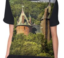 Castell Coch Rising Above The Forest Chiffon Top