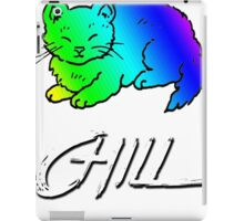 Chill Cat Rainbow iPad Case/Skin