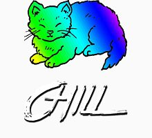Chill Cat Rainbow Unisex T-Shirt