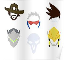 overwatch offense icons Poster