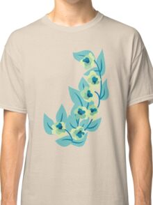 Green Flowers and Leaves Floral Print Classic T-Shirt