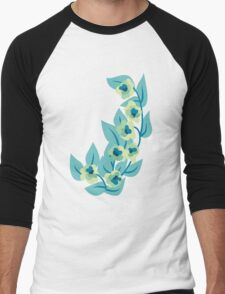 Green Flowers and Leaves Floral Print T-Shirt