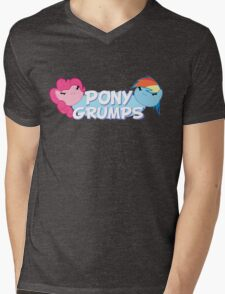 Pony Grumps T-Shirt Mens V-Neck T-Shirt