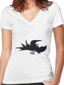Adventure Time - Marceline 3 - Sucking Red Color Women's Fitted V-Neck T-Shirt