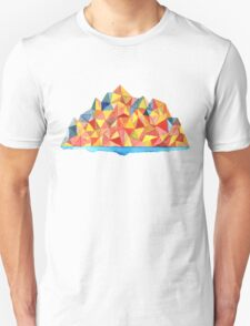 Colorful Geometric Watercolor Mountain Range Unisex T-Shirt