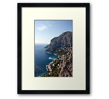 Capri Coastline Framed Print