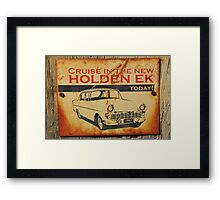 The New Holden EK Framed Print