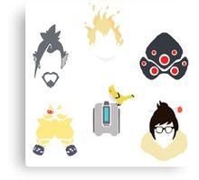 overwatch defense icons Canvas Print