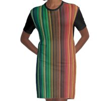 Women's Graphic T-Shirt Dress Groovy Rainbow Colors Graphic T-Shirt Dress