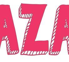 BBG AZA BBYO: Pink Sticker