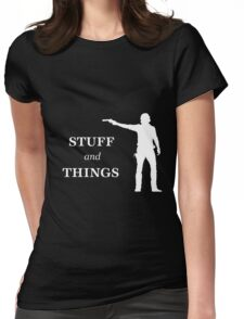 Rick Grimes - Stuff and Things Womens Fitted T-Shirt