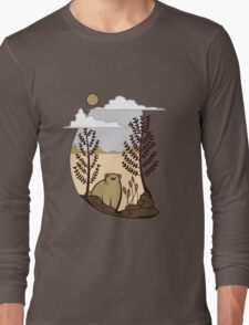 Cute Simple Bear in the Forest  Long Sleeve T-Shirt