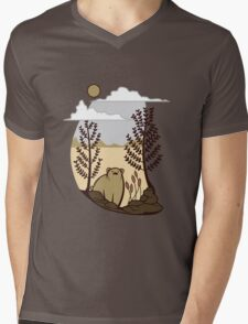 Cute Simple Bear in the Forest  Mens V-Neck T-Shirt