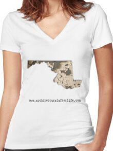 Maryland Urbex Women's Fitted V-Neck T-Shirt