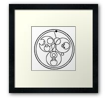 """Come along, Pond"" Translated into Gallifreyan Framed Print"