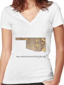 Oklahoma Urbex Women's Fitted V-Neck T-Shirt