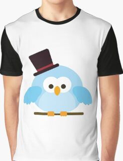 Cute Owl with Hat Graphic T-Shirt