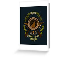 Sgt James Bucky Barnes (green) Greeting Card