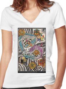 Spirited Away Women's Fitted V-Neck T-Shirt
