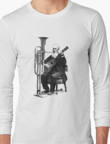 Vintage Music - Guitar & Tuba Long Sleeve T-Shirt