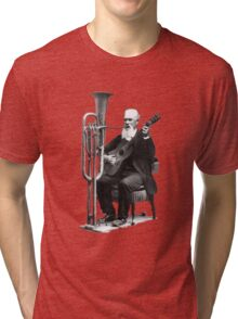 Vintage Music - Guitar & Tuba Tri-blend T-Shirt