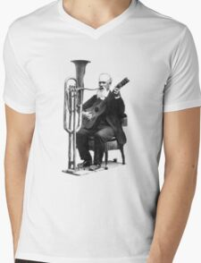 Vintage Music - Guitar & Tuba Mens V-Neck T-Shirt