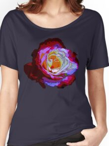 Rose with Raindrops Digital Version Women's Relaxed Fit T-Shirt