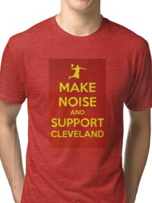 Make noise and support Cleveland Tri-blend T-Shirt