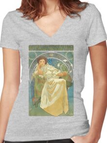 Princezna Nouveau Women's Fitted V-Neck T-Shirt