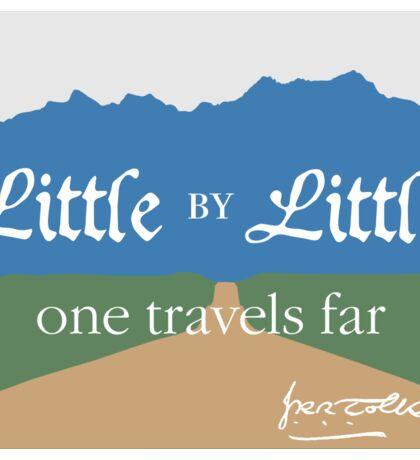 Little by Little One Travels Far Sticker