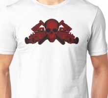 red wrench skull ratrod Unisex T-Shirt