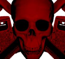 red wrench skull ratrod Sticker