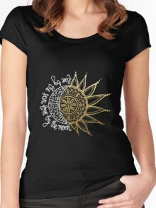 Live by the sun, Love by the moon Women's Fitted Scoop T-Shirt