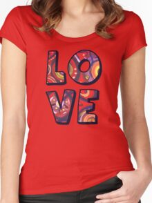 Red Square Abstract Painting Women's Fitted Scoop T-Shirt