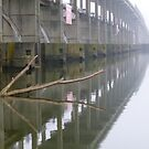 Close Up Of Dam Reflection by WildestArt