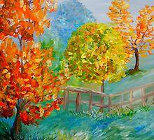 Blue Autumn by EloiseArt