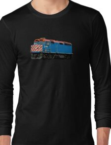 Comic Book Style Train Long Sleeve T-Shirt