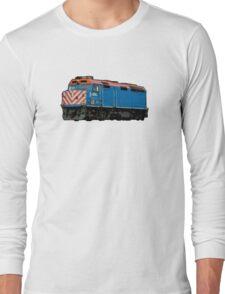 Comic Book Style Train Long Sleeve T-Shirt