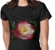 Rose with Raindrops Original Photograph  Womens Fitted T-Shirt