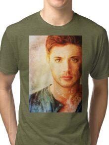 Jensen Ackles - Dean Winchester Pencil Portrait 4 Tri-blend T-Shirt
