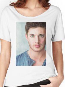 Jensen Ackles - Dean Winchester Pencil Portrait 2 Women's Relaxed Fit T-Shirt