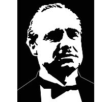DON CORLEONE-GODFATHER-BRANDO-GRAPHIC ART PORTRAIT Photographic Print